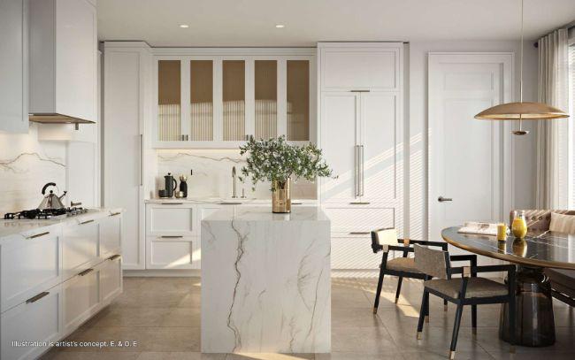 Glen Hill Condos kitchen area