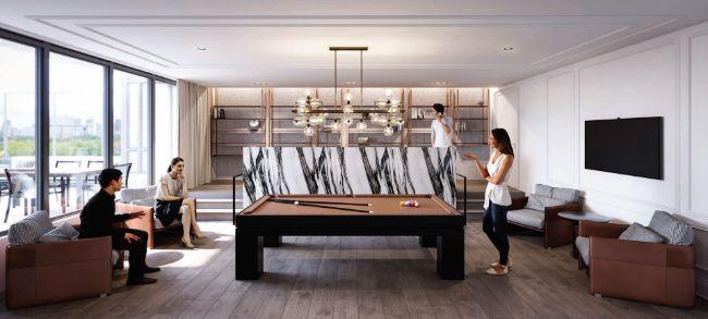 The Dylan Condos: billiard area